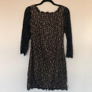 DVF Zarita Embellished Lace Dress